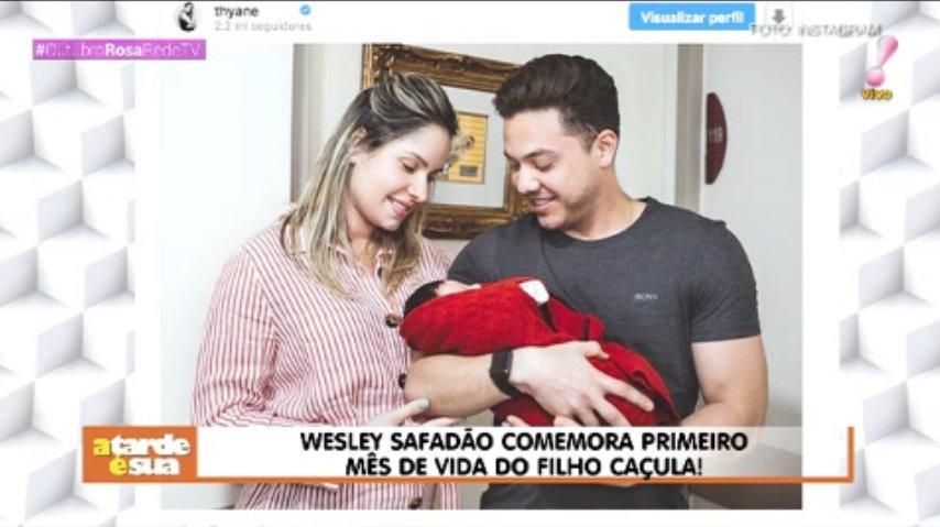 Wesley safadão comemora primeiro mês de vida do filho caçula! #AtardeEsua