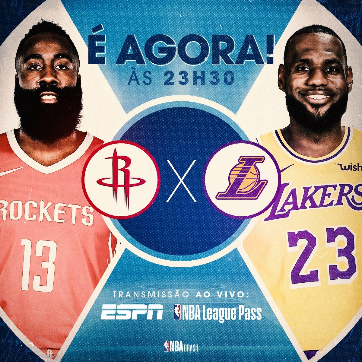 .@HoustonRockets X @Lakers começa AGORA! Já pode sintonizar na @ESPNagora e curtir esse jogão entre os gigantes do Oeste! 📺 #NBAnaESPN #RunAsOne #LakeShow
