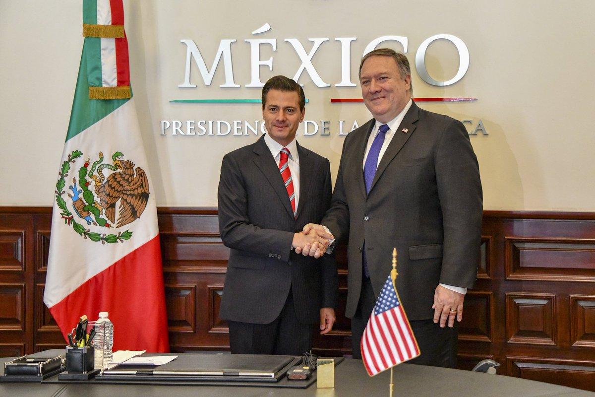 Secretary Pompeo meets with President Enrique Peña Nieto