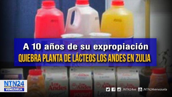 Quiebra planta de Lácteos Los Andes en Zulia. Actualmente no procesa ni un litro de leche, existe un grave deterioro en la maquinaria de la planta y las deudas con los productores zulianos generaron la crisis que ahora padecen, según denuncias  https://t.co/WsHXs35Mtu