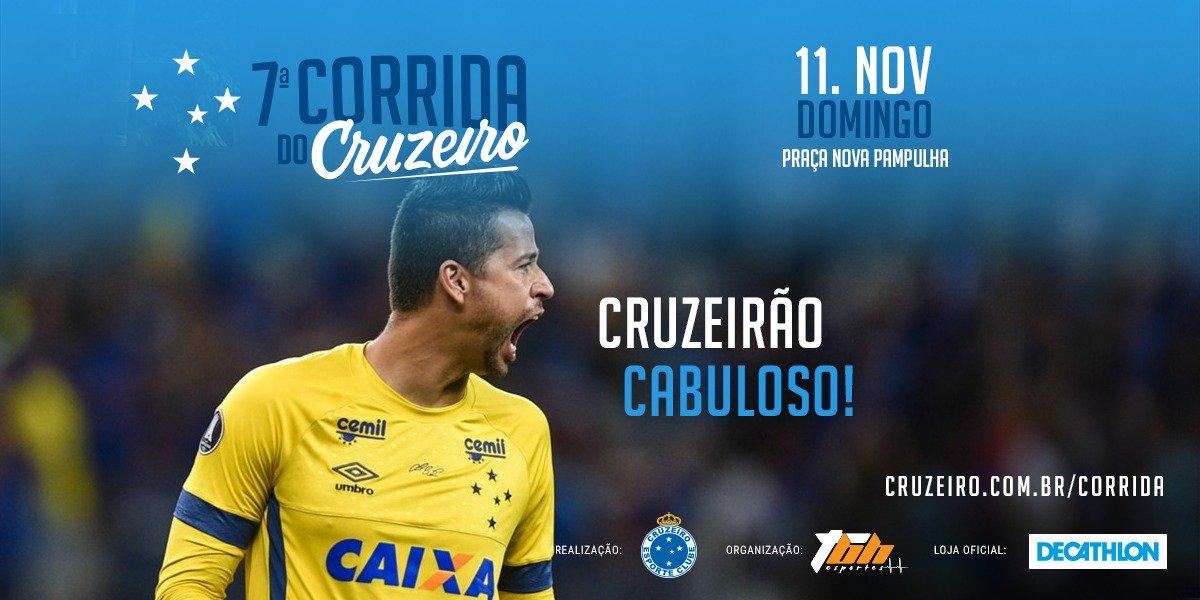 Falta menos de um mês para a 7ª Corrida do Cruzeiro!  E você, já fez sua inscrição?  Acessa aí: https://t.co/TyaamAljOR