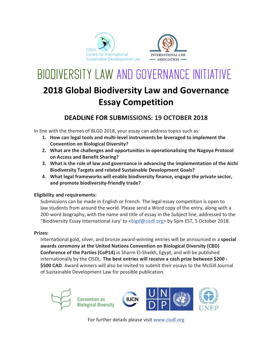 Blgi On Twitter Today Is The Final Day To Submit Your Paper To Our  Blgi On Twitter Today Is The Final Day To Submit Your Paper To Our Essay  Competition Egyptcop Cop Blgd Law Governance Biodiversity  Essay
