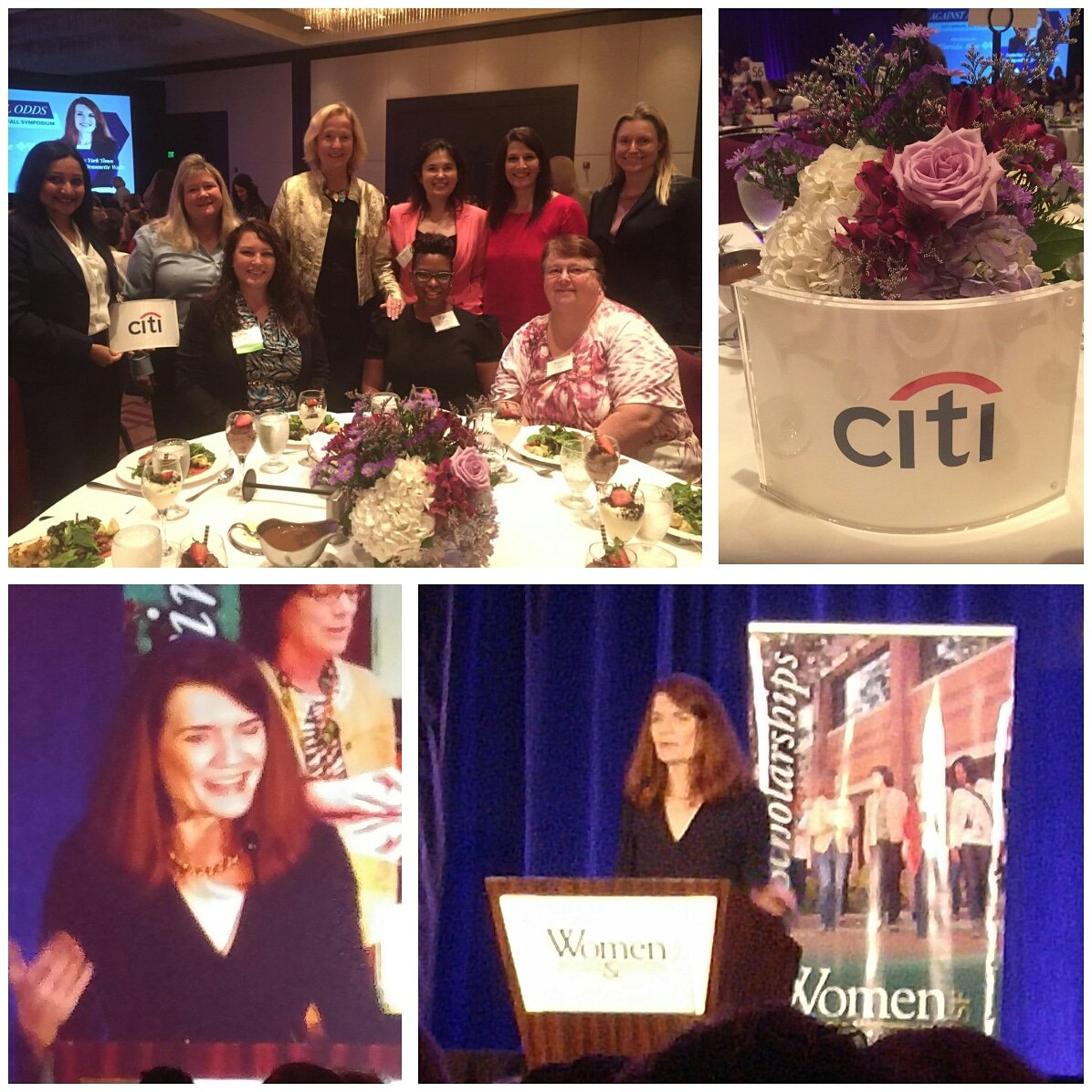 Wonderful day with @citi colleagues at the annual USF Women in Leadership and Philanthropy fall symposium. Keynote speaker Jeannette Walls ('The Glass Castle') was endearing, humble, witty and inspiring. @usf_wlp #wlpsymp #LifeAtCiti #CitiAmbassador