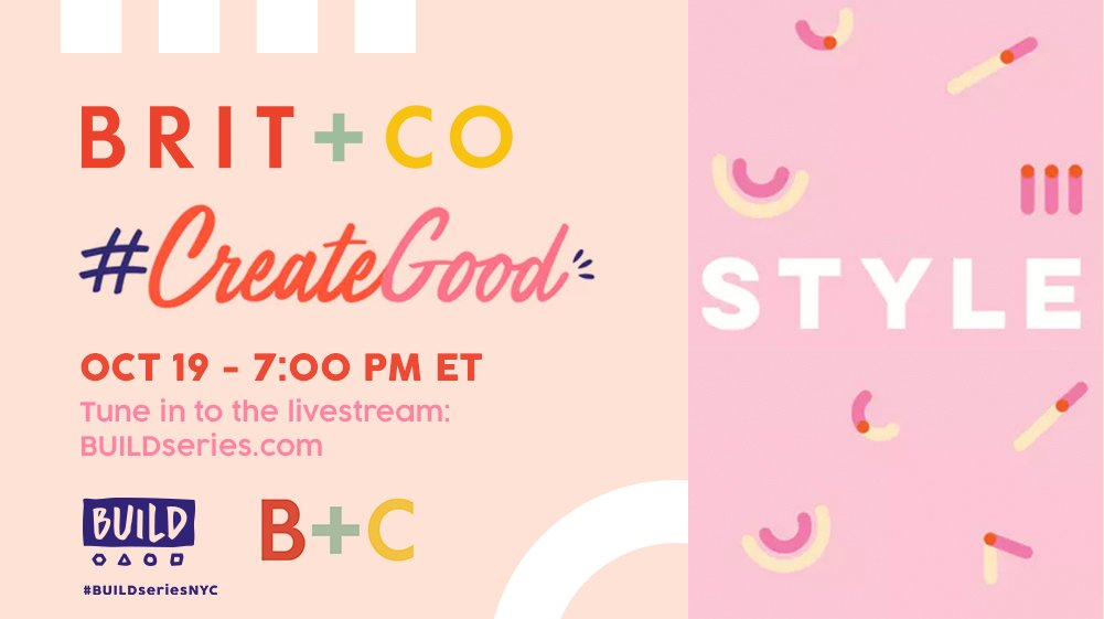 Tonight's #CreateGood is all about style, and we're sitting down with @AutumnAdeigbo, @deepicam, @Jenn_RTR, @NikkiReed_I_Am & more! Don't miss it: .https://t.co/M8xULp80xC