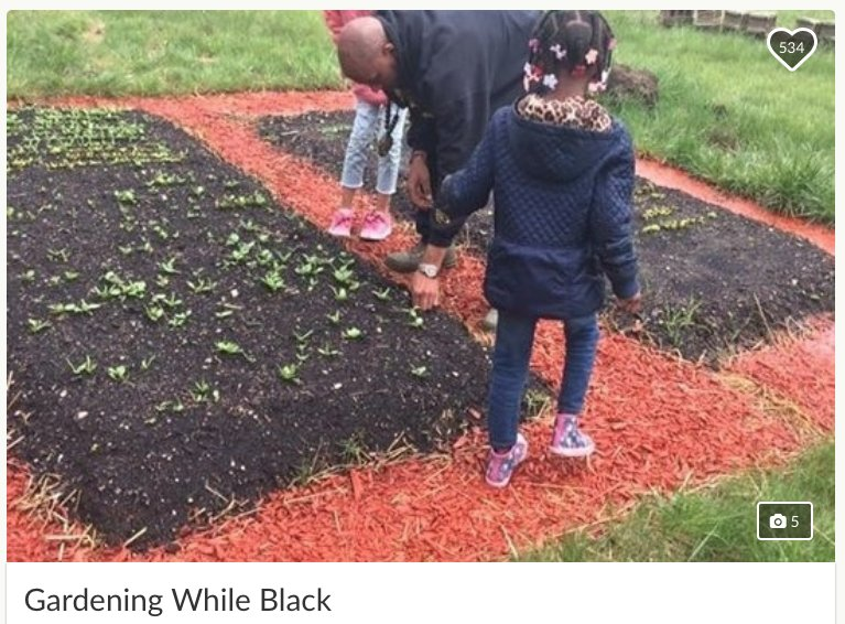 3 white women made false reports to the police about a black man because they didn't like his community gardening project, reports @metrotimes. A judge tossed out the stalking charges they made against him. His lawyers called it a case of 'gardening while black.'