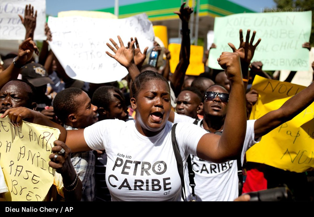 Haitians want to know what the government has done with missing Petrocaribe money: https://t.co/kfm09XHAZR
