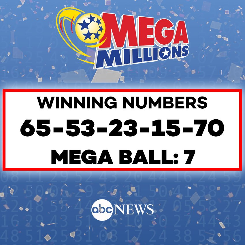 JUST IN: Winning numbers revealed for tonight's $1 BILLION Mega Millions jackpot. https://t.co/YtKrvGP8yU #MegaMillions