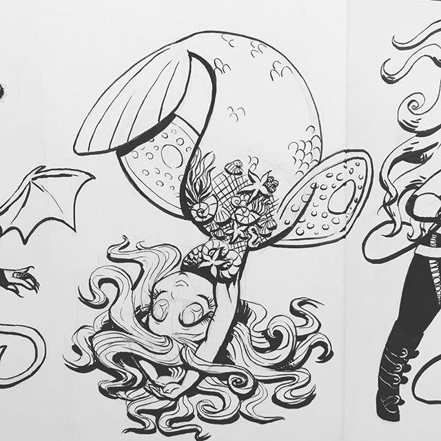 #Inktober day 6! Only 13 days late  . #art #artistsoninstagram #character #characterdesign #illustration #charactersketch #agenderartist #pencil #ink #monstergirl #mermaid #https://ift.tt/2OzClZq pic.twitter.com/5fz1fAco0Q