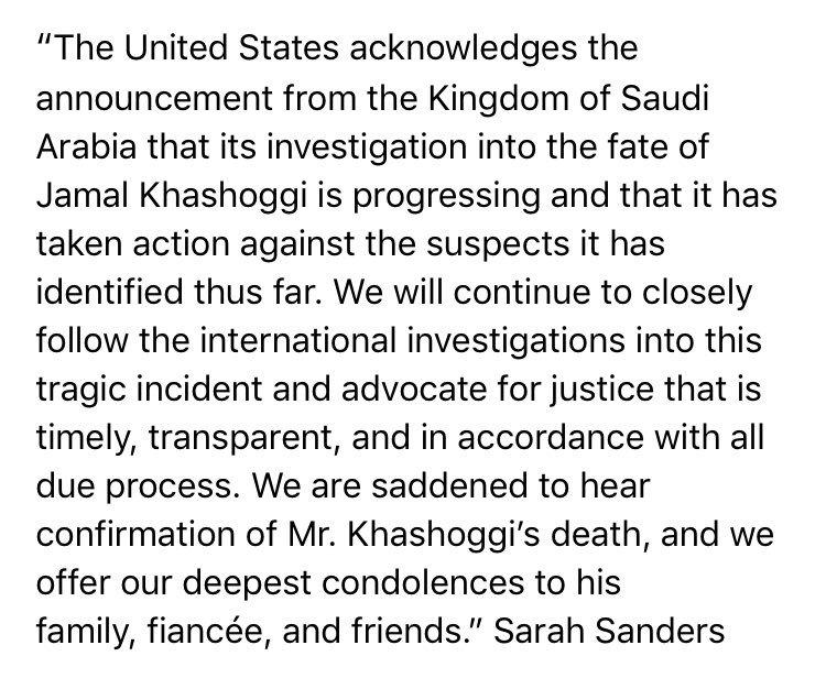 Statement on Saudi Arabia Investigation: https://t.co/DjBdwZAGAi