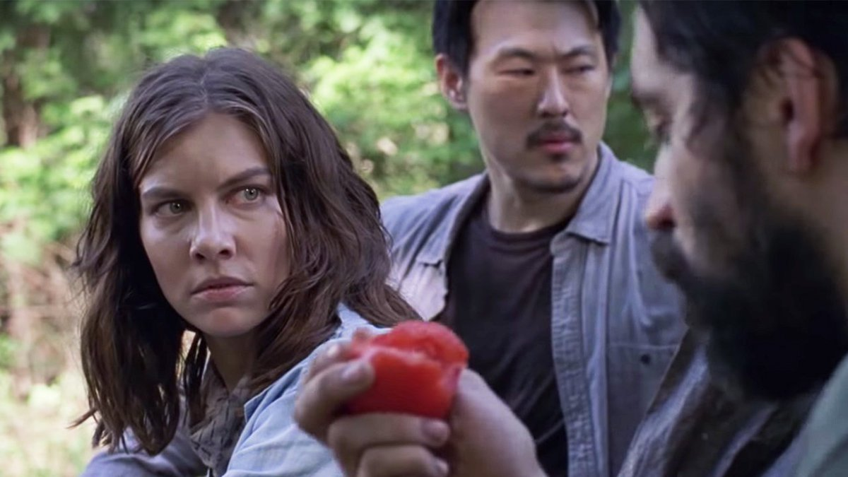 Maggie isn't here for your accusations and tomato stealing. Watch an exclusive scene from tonight's #WalkingDead to see what we mean: bit.ly/903Scene