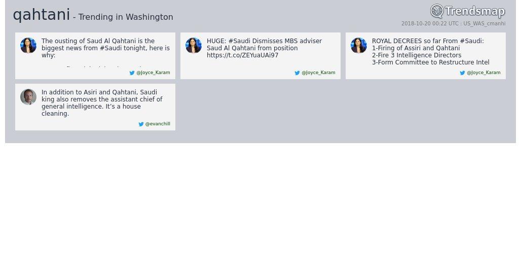 'qahtani' is now trending in #DC  https://t.co/74lmHGE9Nr https://t.co/V5DA2FimHr
