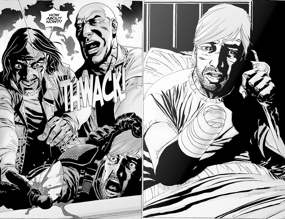 Someone FINALLY lost a hand in #TheWalkingDead…except it wasn't Rick. Here are all the comic comparisons from Sunday: bit.ly/902ComicShow