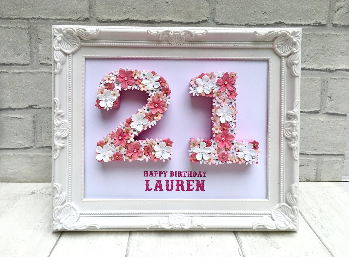 Unique 21st Birthday Gift Celebration Idea For Daughter Personalised Framed
