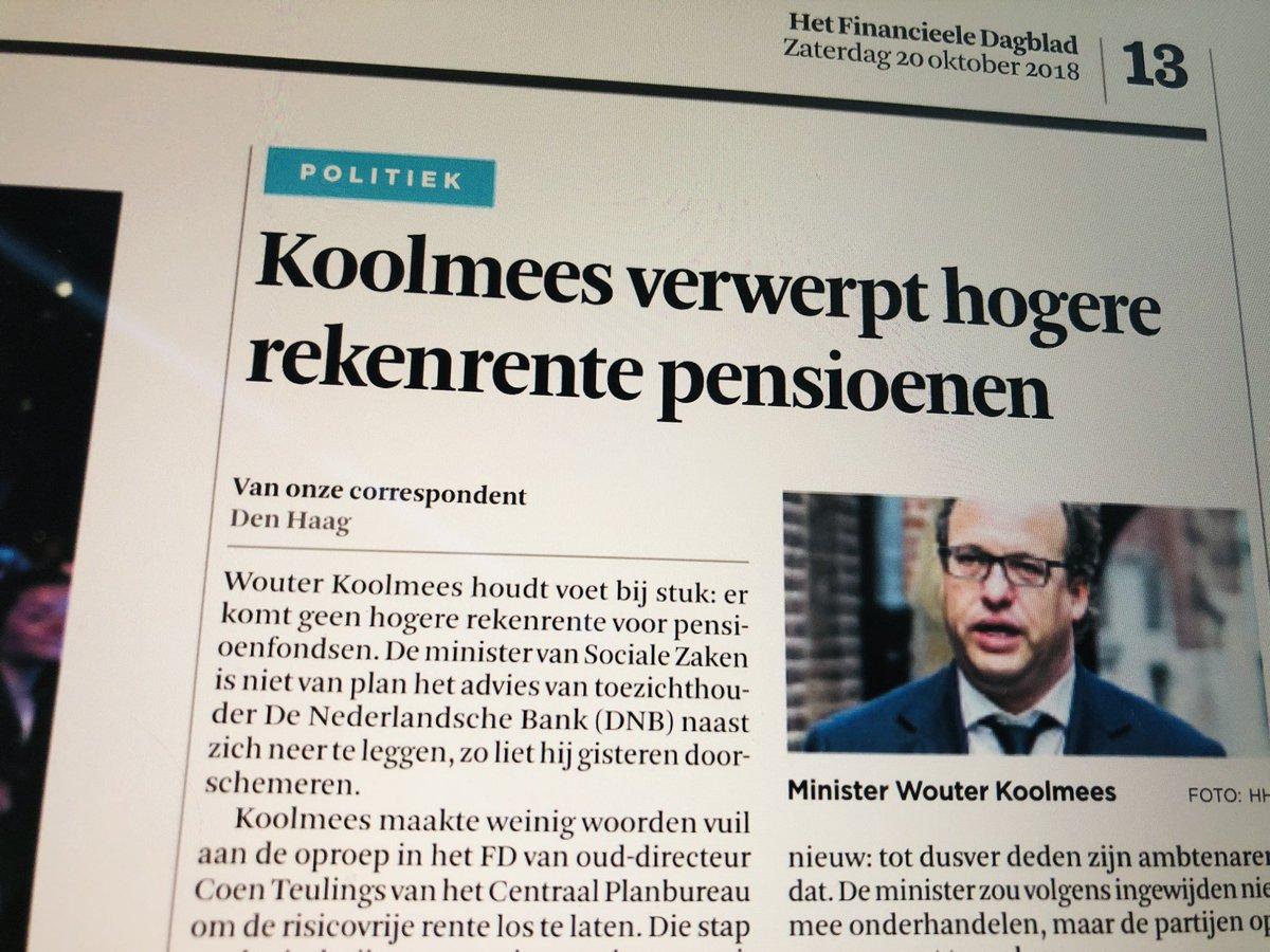 test Twitter Media - Minister Koolmees (D66) steekt een mes in de rug van de gepensioneerden: geen hogere rekenrente pensioenfondsen.  Turkse bijstandsprofiteurs laat hij massaal frauderen maar onze eigen ouderen moeten bloeden. @FD_Nieuws #D66Verraad https://t.co/4iCxcmJSxn