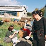 Image for the Tweet beginning: 堆肥販売1日目、お昼休憩です🍽 今日はシチューです(  ˙༥˙  ) 美味しかったです😋💕💕 午後からも頑張ります💪('ω'💪)
