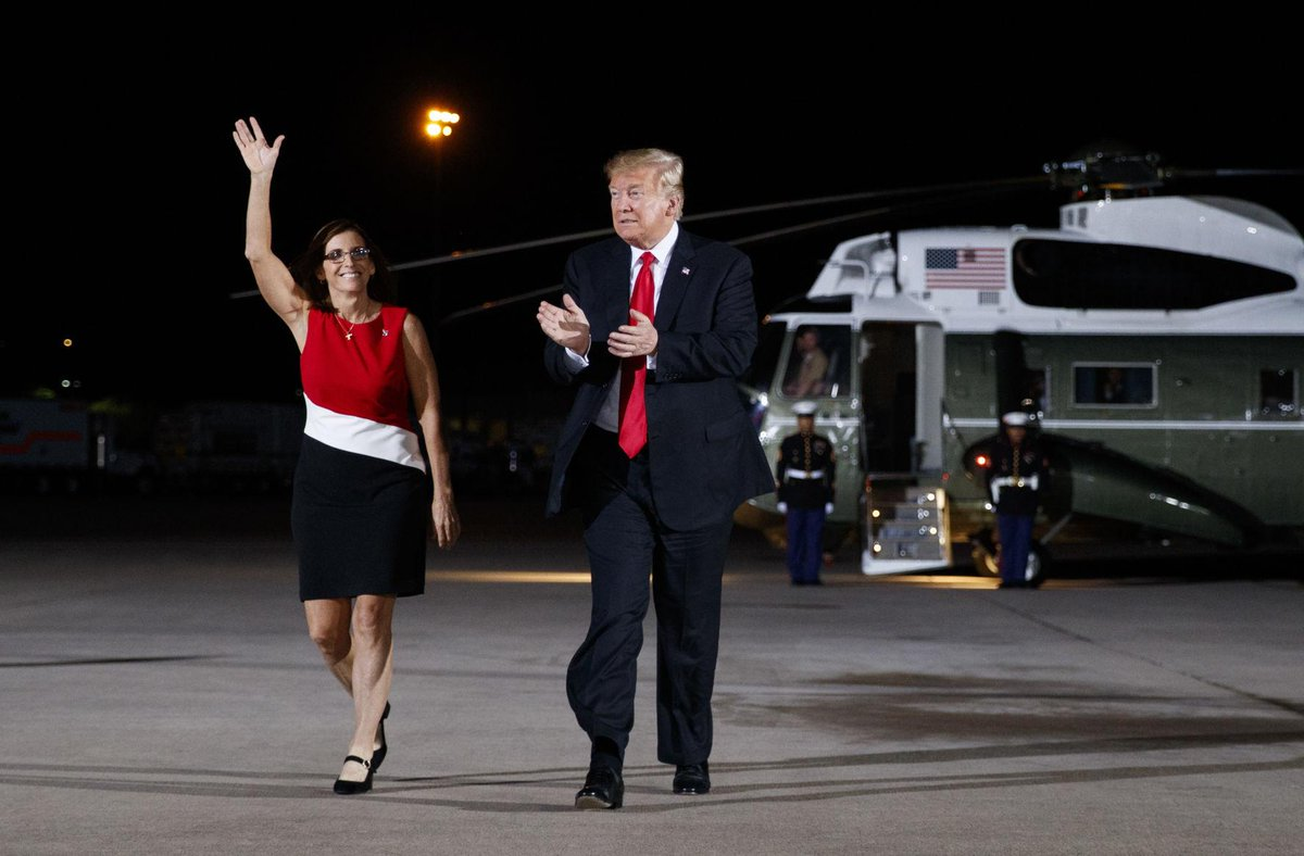 Photos: Pres. Trump stumps for Martha McSally in Mesa https://t.co/s79uUPUUjk