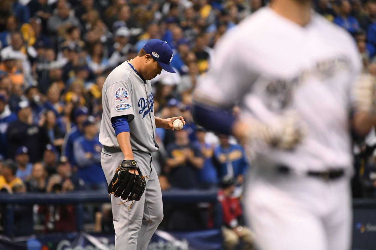 Brewers chase out Hyun-Jin Ryu early to top the Dodgers and force Game 7  https://t.co/oByCsNBk2z
