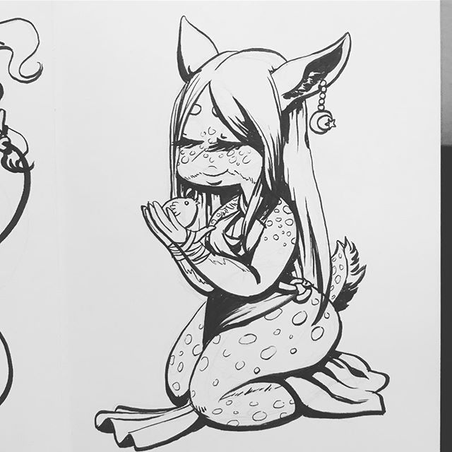#Inktober day 8! . #art #artistsoninstagram #character #characterdesign #illustration #charactersketch #agenderartist #pencil #ink #monstergirl #fawn https://ift.tt/2q3tgJQ pic.twitter.com/StpTVHmrf4