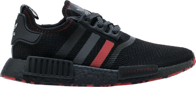 6412fb711 Shoe palace x adidas nmd r1 25th anniversary mens running shoe  (black grey red) free shipping - scoopnest.com