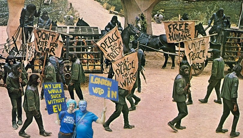 Park Lane, London. 20th October 3978 AD.. #PeoplesVoteMarch #PeoplesMarch #AnotherFuckingMarch #EuSimians