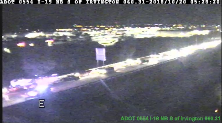 I-19 southbound just past Irvington: A crash is blocking the highway. #Tucson