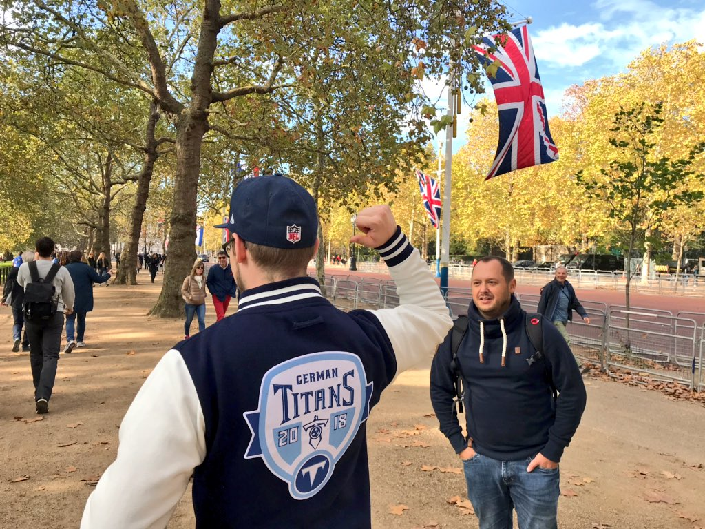The @GermanTitans_EV part of the @Titans Nation in London. 🇬🇧🏈