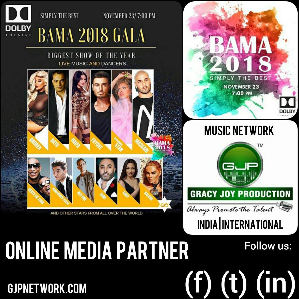 test Twitter Media - GRACY JOY PRODUCTION™ (@GJP_recordz) Official Online Media Partner International @BAMA_Official 2018 #USA #BAMA2018 / #Music / #Hollywood  (@BAMA_Official) 2018 23 - Nov. / 7:00 PM (@DolbyTheatre) / #LosAngeles  More info & tickets 👇 https://t.co/2IYjKOxp6q Via (@Ticketmaster) https://t.co/adg8sz9VsG