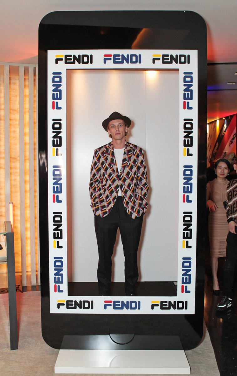 .@Jamiebower and Elias Becker at the #FendiMania One Night Only in London. Feat. FENDI/FILA by @heyreilly