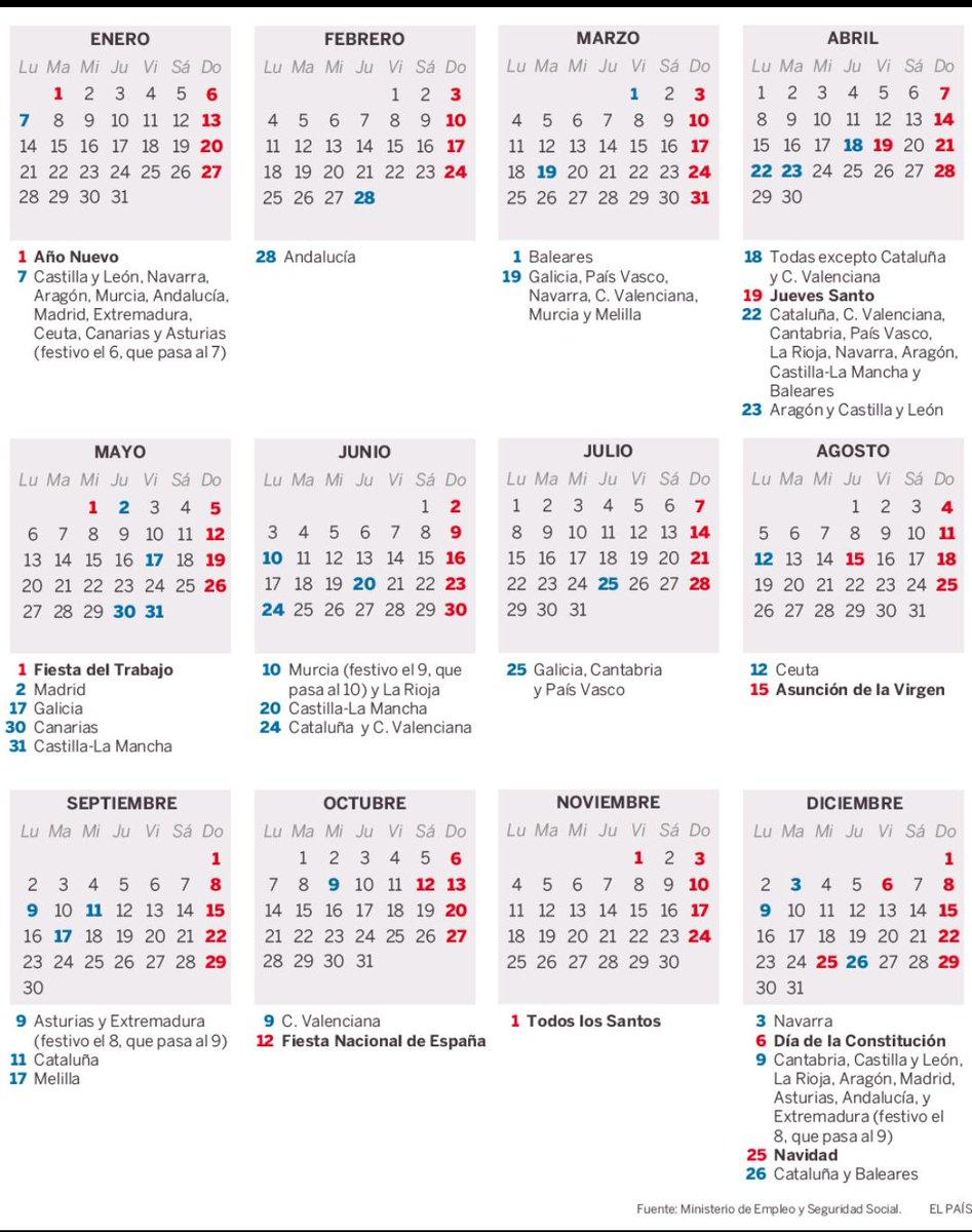 Calendario Laboral 2019 Navarra.A Abogados De Murcia On Twitter Calendario Laboral 2019