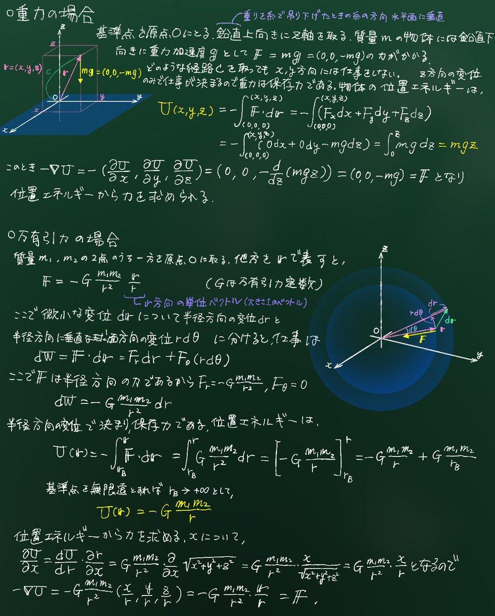 位置 エネルギー 万有引力