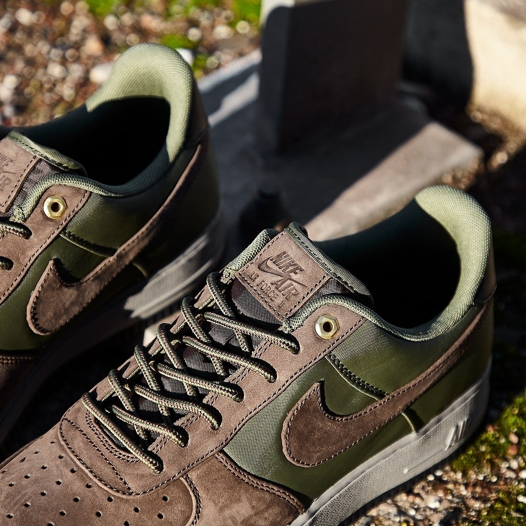 online store 65ef8 6f384 Nike Air Force 1 07 Premier Baroque BrownArmy  Now available online.  Sizes range from UK6 - UK12 (including half sizes), priced at £100.