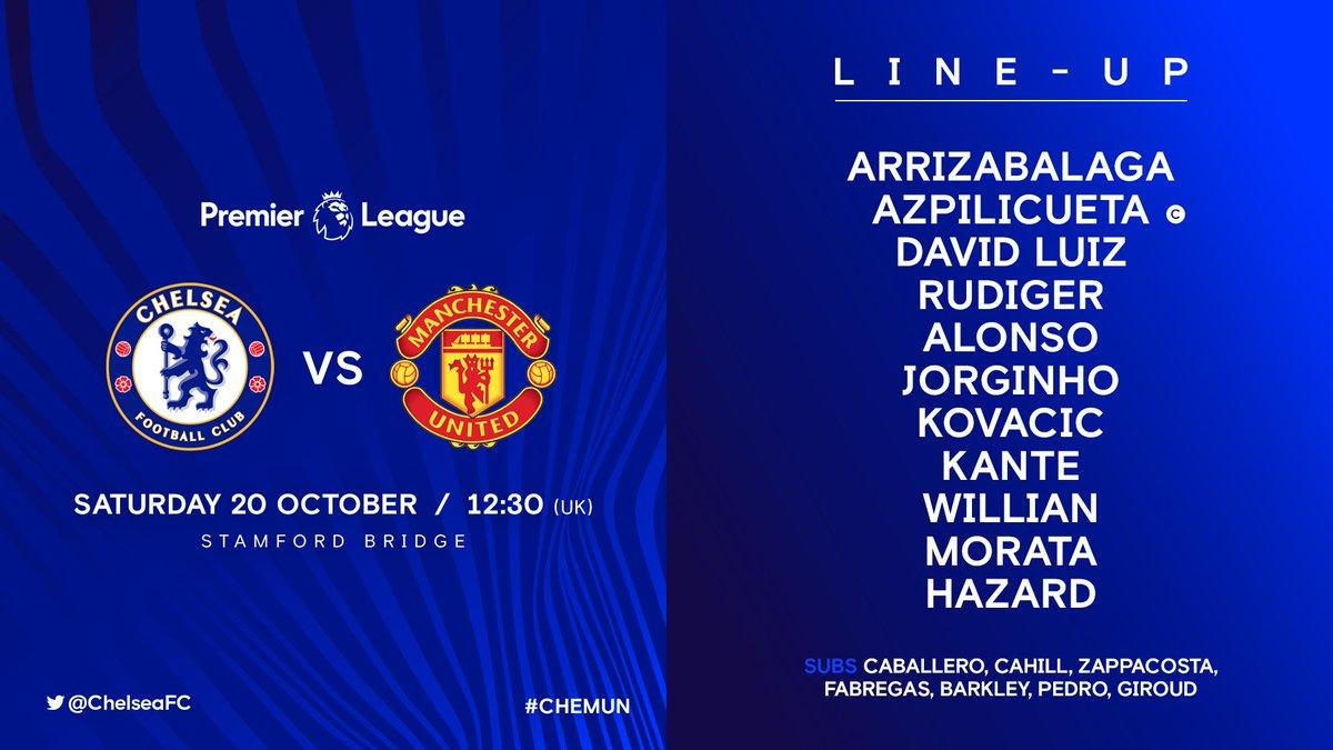 Today's team to play Man Utd...  #CHEMUN