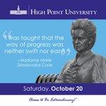 [CALENDAR] #DailyMotivation from Madame Marie Sklodowska Curie. #HPU365