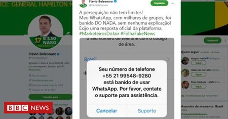 Por que o WhatsApp bloqueou filho de Bolsonaro e mais 'centenas de milhares' de usuários às vésperas das eleições https://t.co/TgpPjuANWt