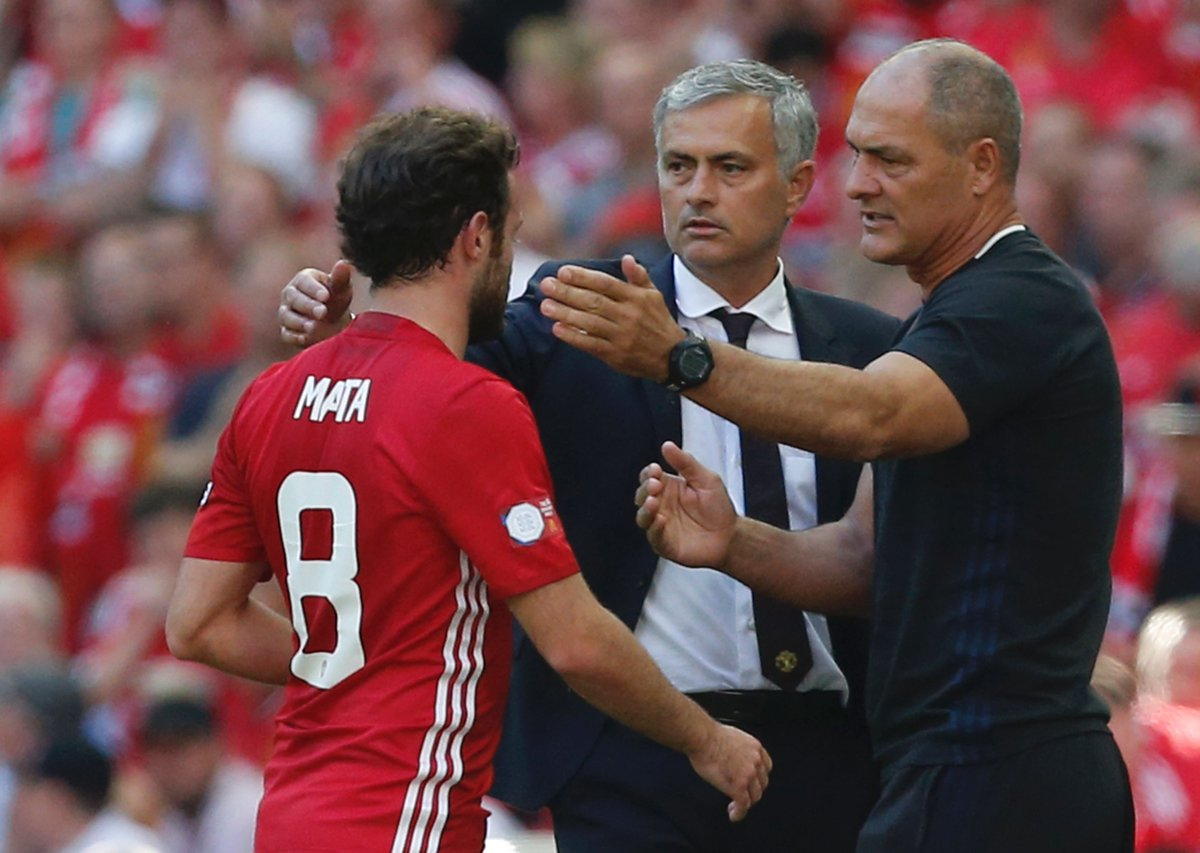José Mourinho: 'Juan Mata is one of our team players. He is always available for the team, he thinks about the team. He is not selfish or an egocentric personality... Mata is what I like to call a proper professional.'
