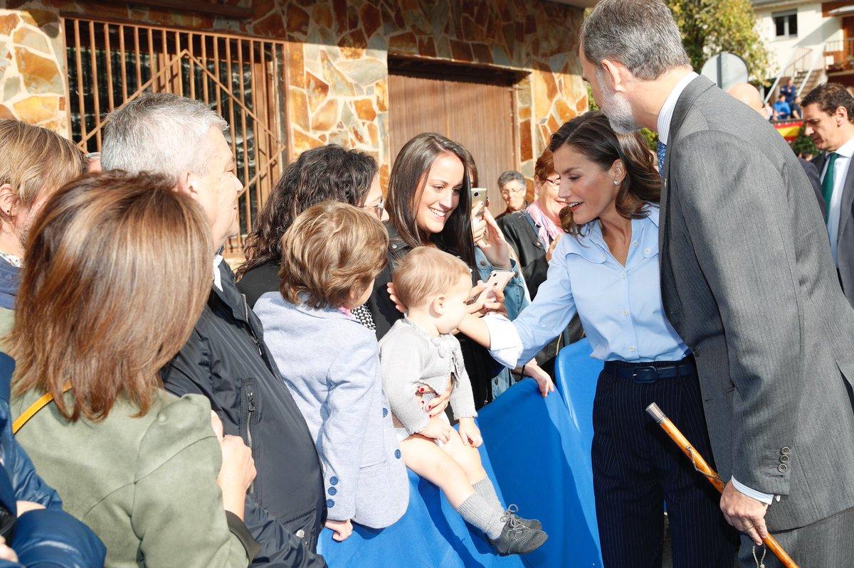 Король и королева посетили самый образцовый город Астурии