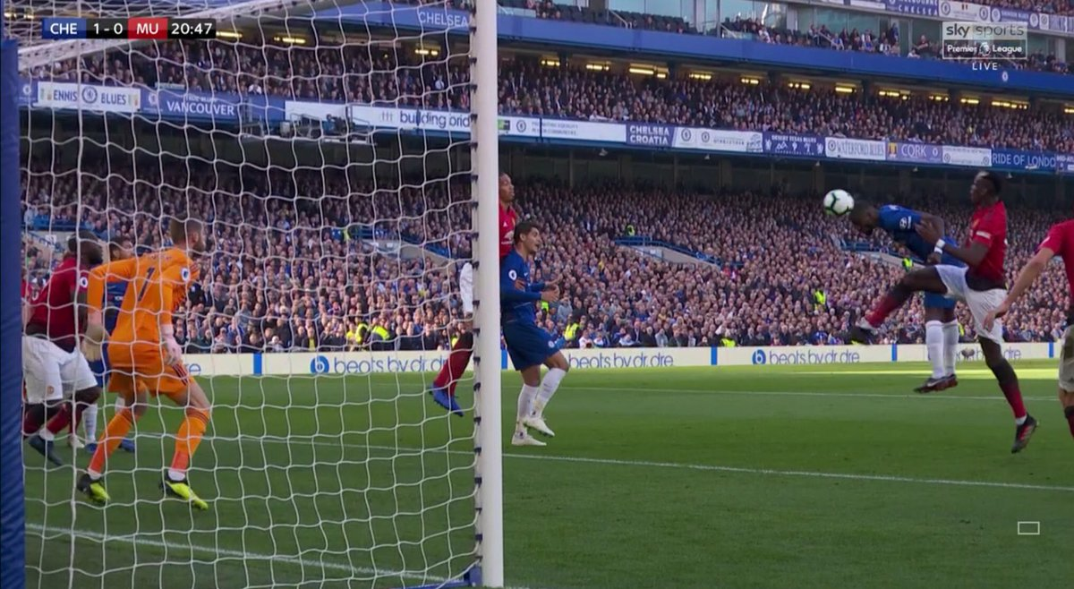Antonio Rudiger scores Chelsea's 1st headed goal in PL this season - they led the PL for headed goals last season, with 17