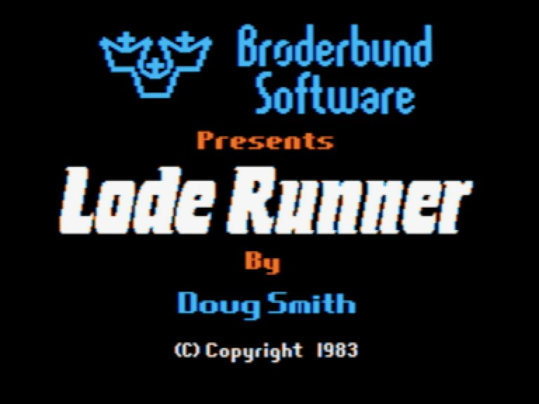 Lode Runner archive.org/details/LodeRu… Text: archive.org/download/LodeR… Video: archive.org/details/A2Vide…