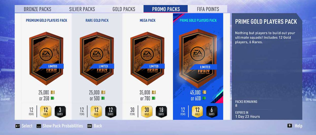 Fifauteam On Twitter New Promo Packs Available Today On