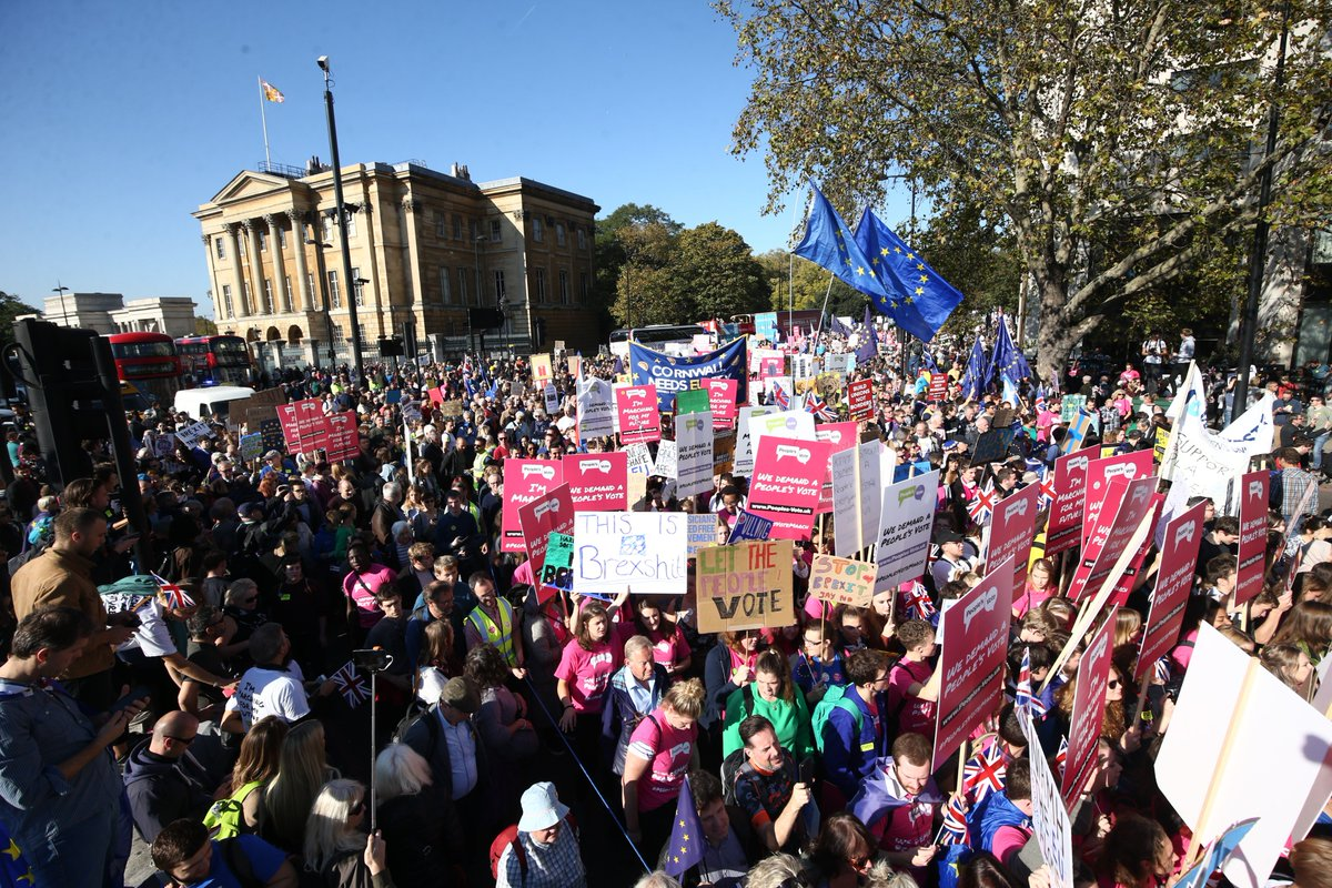 Organisers of today's People's Vote march say was the 'biggest' demonstration of its kind. Young voters led the protest to London's Parliament Square, which supporters say attracted more than 600,000 people. @clivebull asks: Should we listen to the protestors?