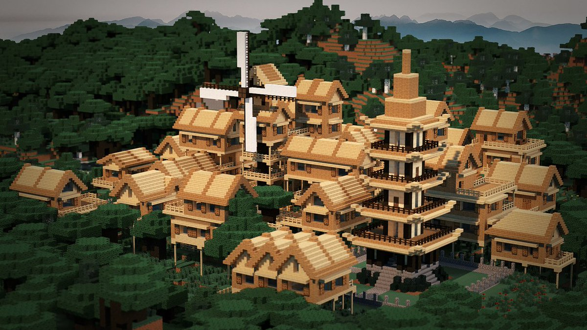 """Minecraft on Twitter: """"Need inspiration for your next village"""