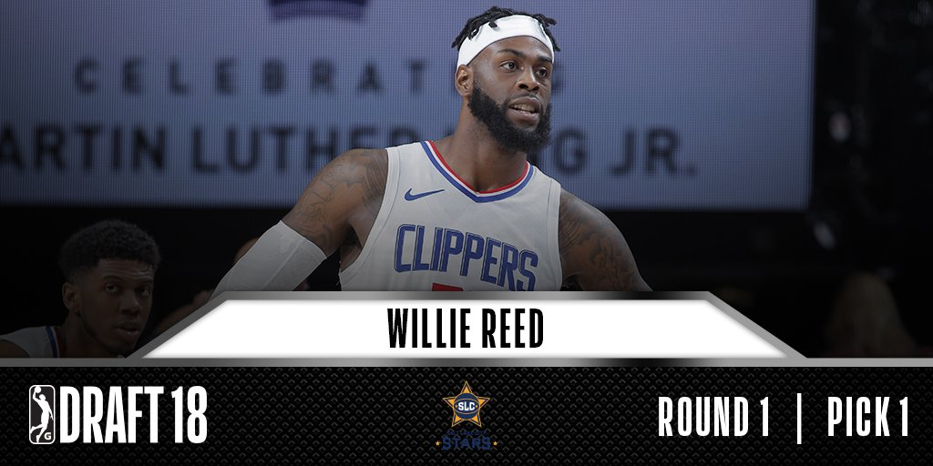 With the No. 1 overall pick in the #GLeagueDraft, the @slcstars select Willie Reed. https://t.co/J6IfZ5yw46