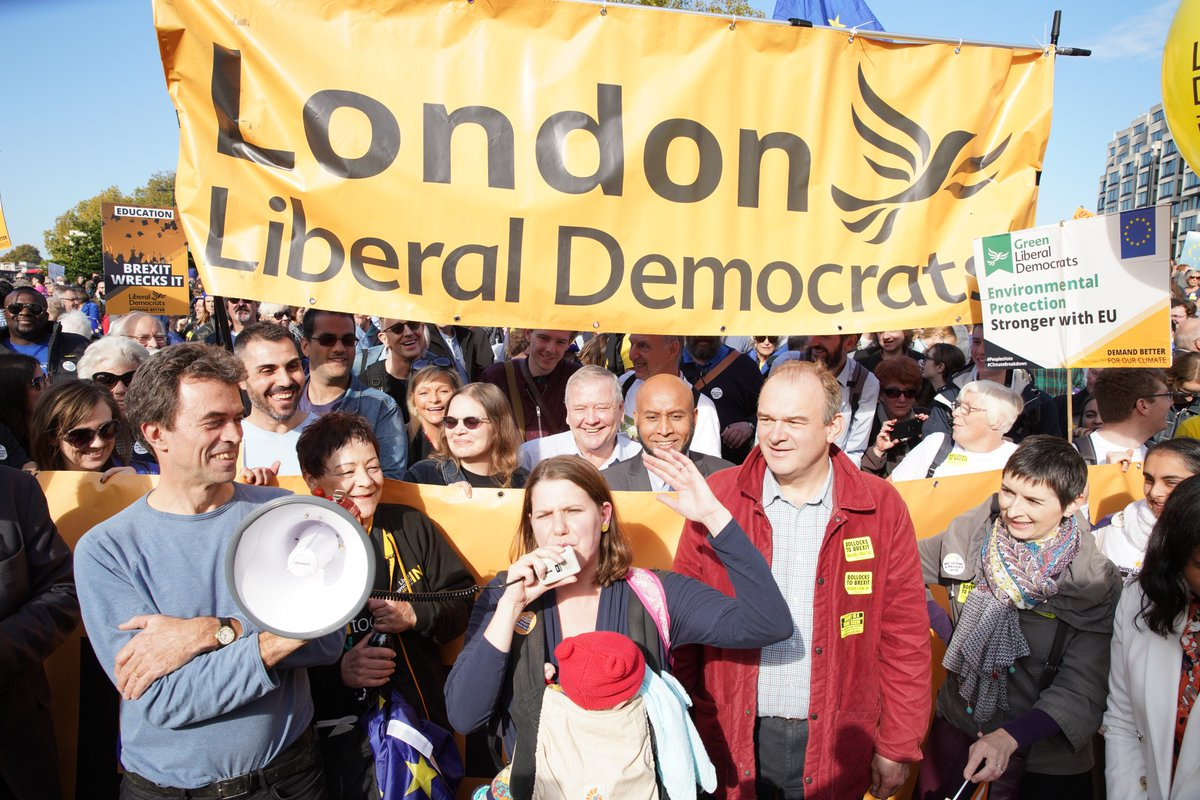 This Tory Government is making a mess of Brexit and Jeremy Corbyn and the Labour leadership have defied us all with their 'Brexit fudge'. Today we march for a final say on the deal! #LibDems #PeoplesVoteMarch