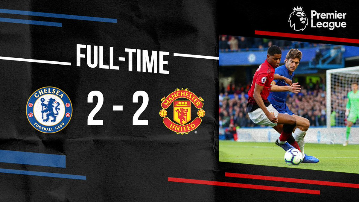 The points are shared at Stamford Bridge after a dramatic ending to the game. #MUFC #CHEMUN