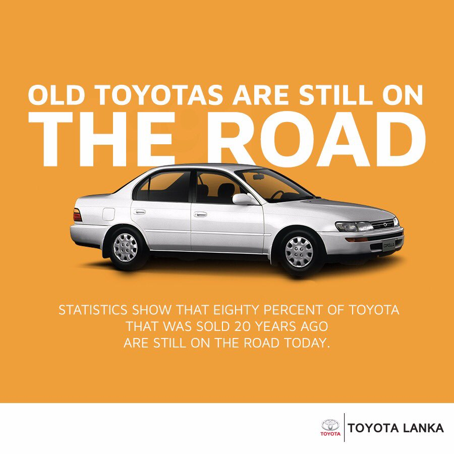 Toyota has a reputation for building extremely reliable vehicles that last for the long term!  Do you own an older Toyota vehicle? https://t.co/af6inXdUEu