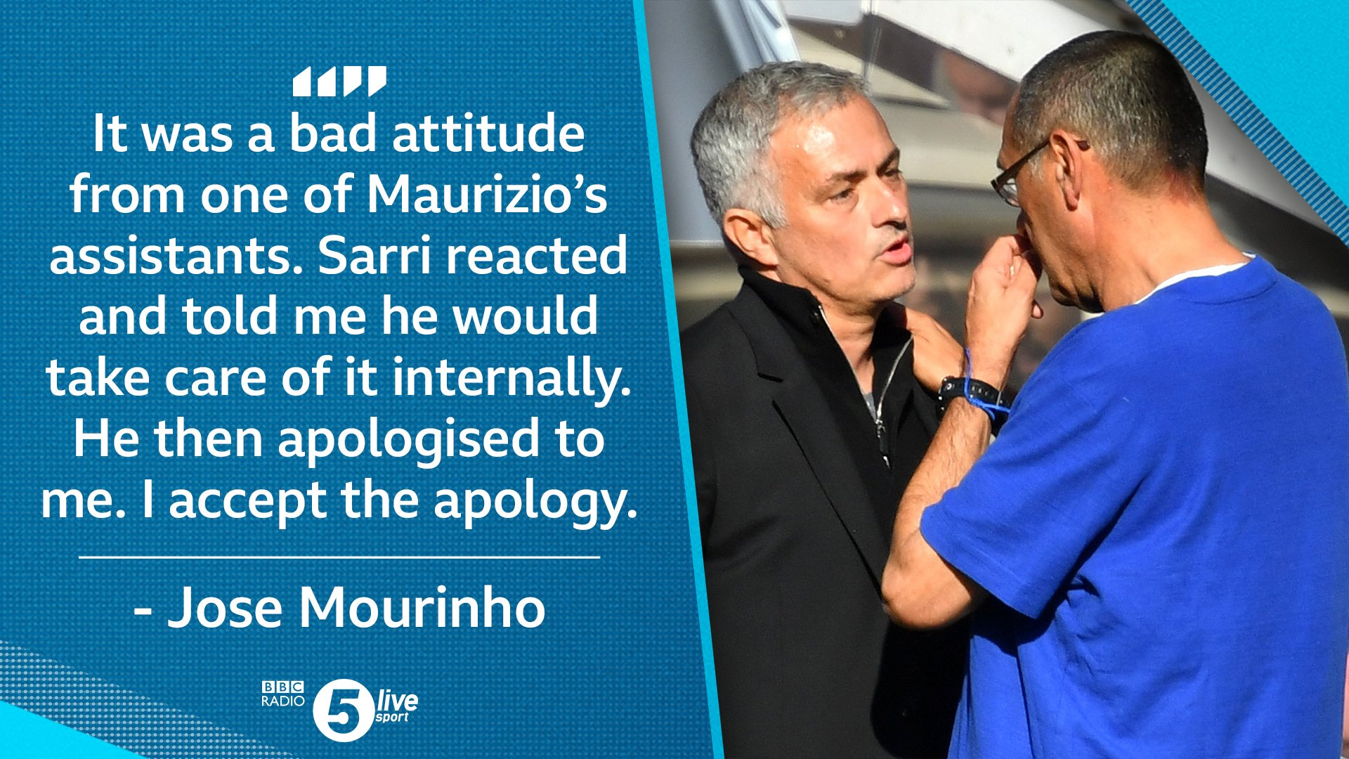 Jose Mourinho has just spoken to us about that touchline scuffle...  ��⚽https://t.co/pFfd7r8vSu #CHEMUN https://t.co/N9CWOikOXm