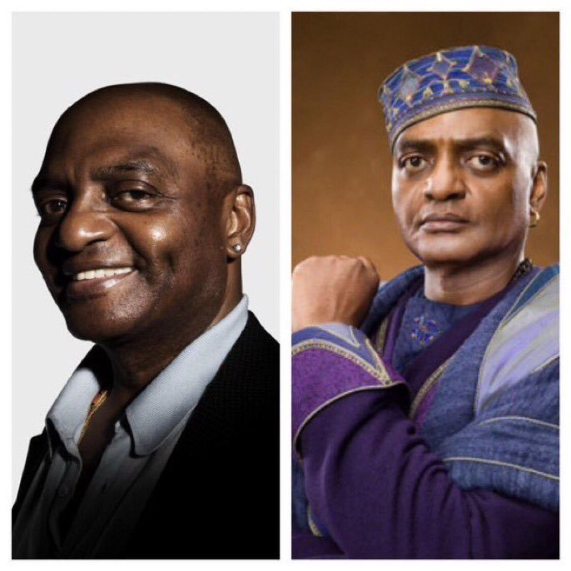 October 20: Happy Birthday, George Harris! He played Kingsley Shacklebolt in the films.