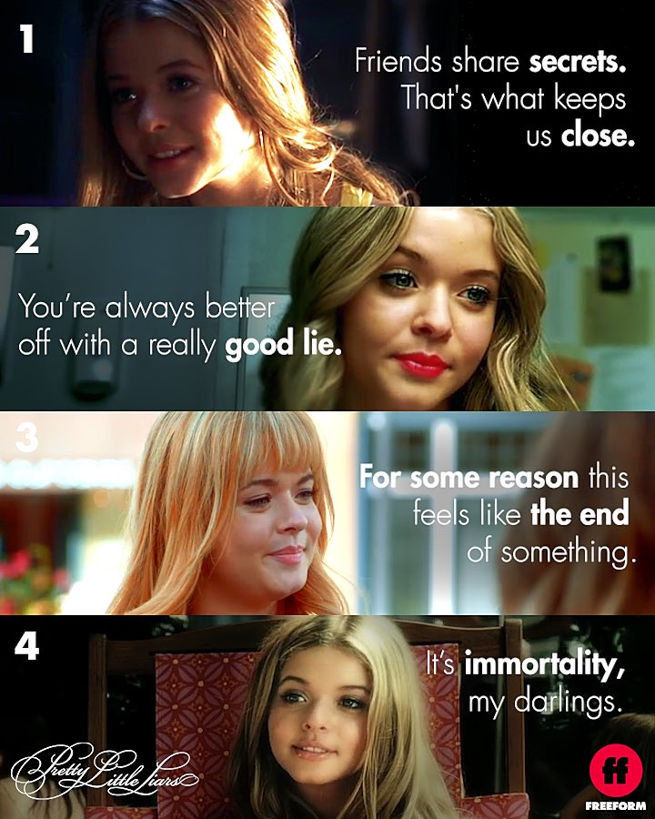 We've probably used these quotes way too many times for Instagram captions. #PrettyLittleLiars