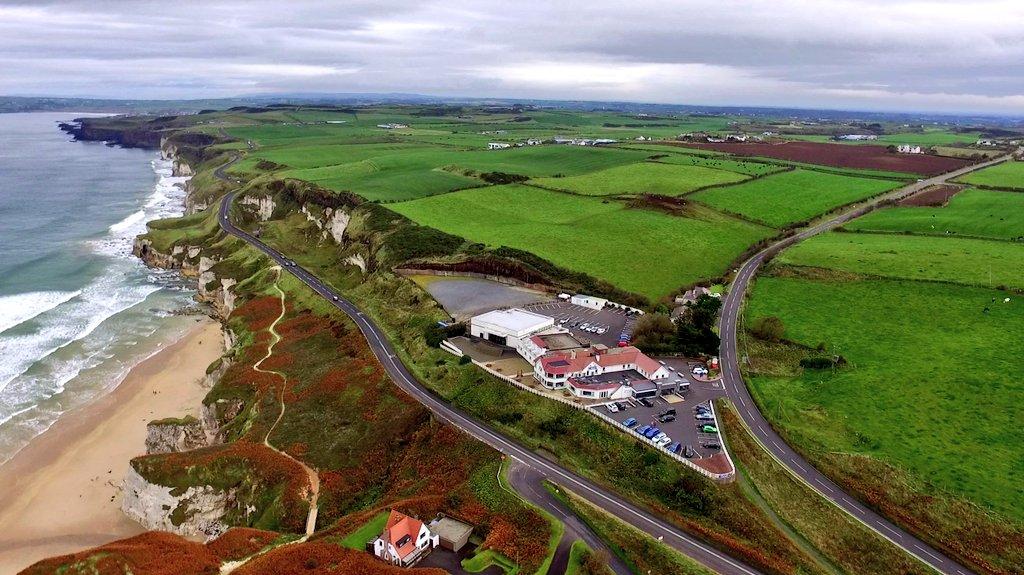 Northern Ireland's beautiful north coast on a nice autumns day.
