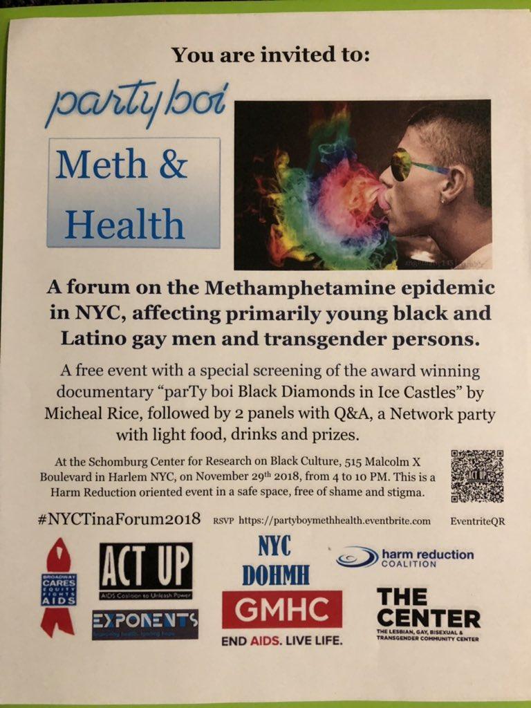 parTy boi, Meth & Health Forum